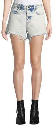 Alexander Wang Bite High-Rise Cutoff Bleached Denim Shorts