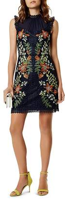 Karen Millen Embroidered A-Line Dress