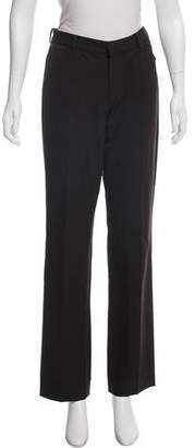 Ralph Lauren Black Label Wool Mid-Rise Straight-Leg Pants