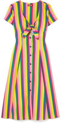 DAY Birger et Mikkelsen STAUD Alice Tie-front Striped Stretch-cotton Poplin Dress