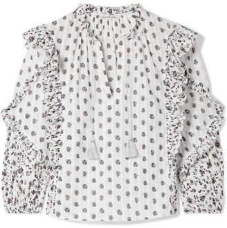 dfe43ac6512 Ulla Johnson Kati Floral-print Cotton-gauze Blouse - White