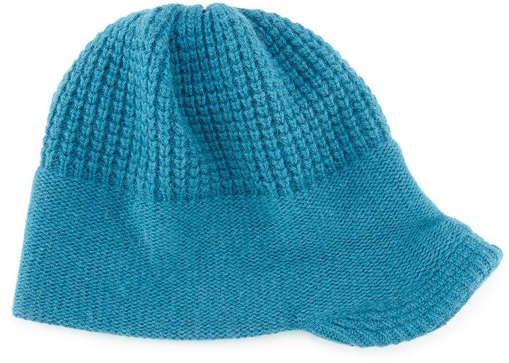 Portolano Knit Peak Hat with Visor, Teal