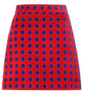 Miu Miu Exclusive to mytheresa.com – polka-dotted cotton terrycloth skirt