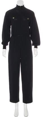 St. John Sport Knit Long Sleeve Jumpsuit