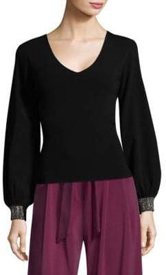 Milly Bishop-Sleeve Sweater