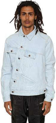 Off-White Asymmetric Cotton Denim Jacket