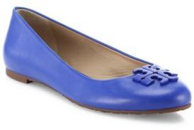 Tory Burch Lowell 2 Leather Ballet Flats $250 thestylecure.com