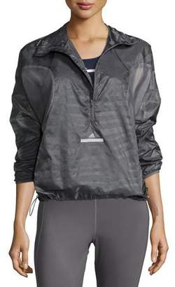 adidas by Stella McCartney Cycling Adizero Pullover Jacket, Granite $185 thestylecure.com