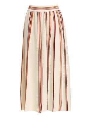 Loro Piana Women's Rigata Palm Beach Striped Midi Skirt - Size 38 (2)