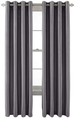 Royal Velvet Plaza Grommet-Top Lined Blackout 50WX63L Curtain Panel