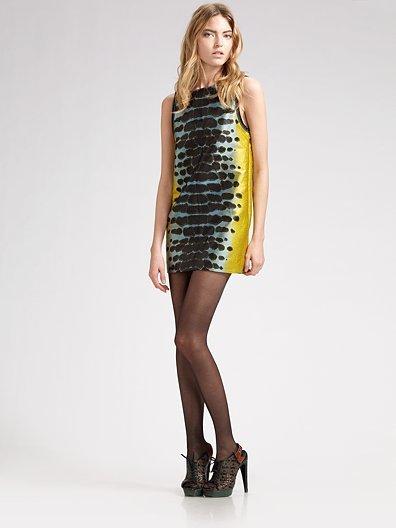 Proenza Schouler Cowl-Back Mini Dress