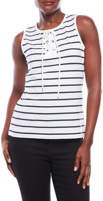 nautica Striped Lace-Up Top $44.50 thestylecure.com