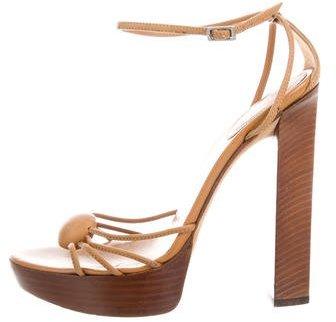 Sergio RossiSergio Rossi Leather Platform Sandals