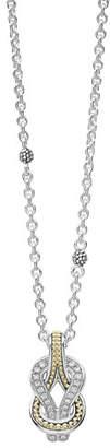 Lagos Newport 18K Gold Diamond Rope Pendant Necklace