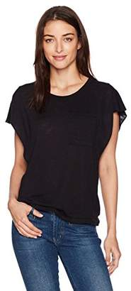Splendid Women's Short Sleeve Ruffle Top