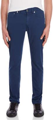 Love Moschino Blue Slim Straight Trousers