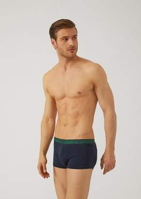 Emporio Armani Set Of 3 Stretch Cotton Boxers