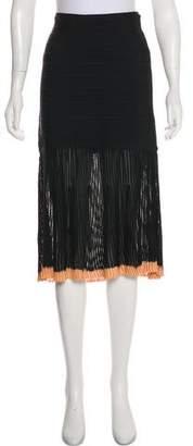 Herve Leger Midi Bandage Skirt