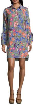 Spense Long Sleeve Shirt Dress