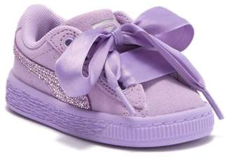 Puma Suede Heart Glitz Sneaker (Toddler)