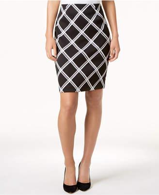 Alfani Printed Pencil Skirt, Created for Macy's