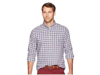 Nautica Long Sleeve Small Plaid Woven Shirt