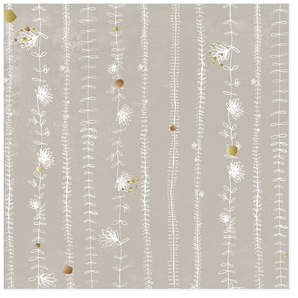 Soft Flower Garlands Self-Launch Wrapping Paper