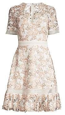Shoshanna Women's Toscana Floral Lace A-Line Dress - Size 0