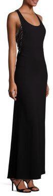 BCBGMAXAZRIA Georgina Fringe Gown $338 thestylecure.com