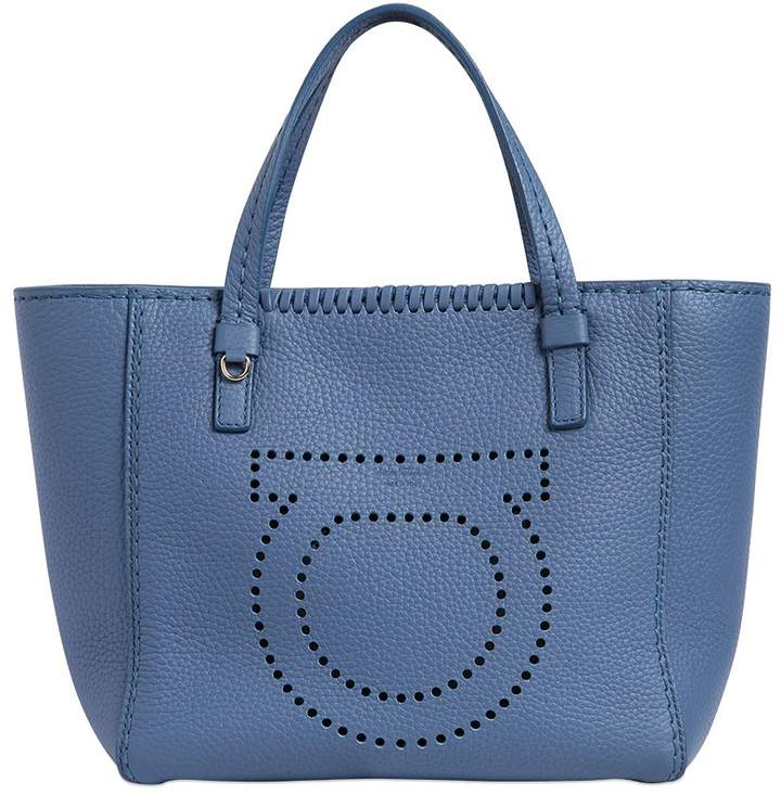 Small Marta Gancio Leather Tote Bag