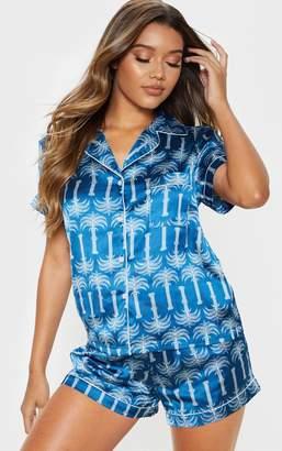 PrettyLittleThing Fuchsia Short Satin Pyjama Set