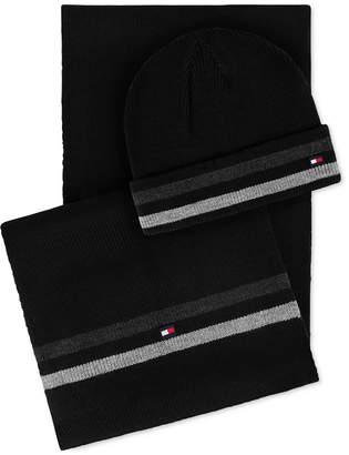 Tommy Hilfiger Men Signature Hat & Scarf Set