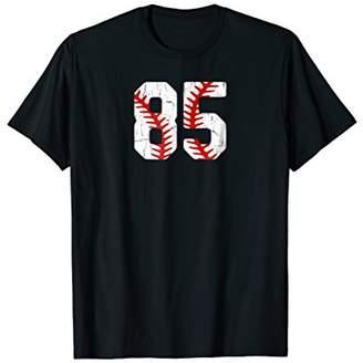 Baseball Player Jersey Number 85 Proud Baseball MOM DAD