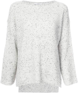 Co speckled knit sweater
