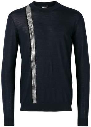 Giorgio Armani stripe detail sweatshirt