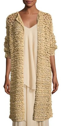 Ralph Lauren Collection Mesh Long Open Cardigan, Rope $1,690 thestylecure.com