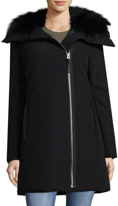 Derek Lam 10 Crosby Women's Mid-Length Fur Coat