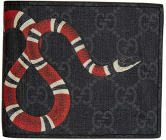 Gucci Black GG Supreme Kingsnake Wallet