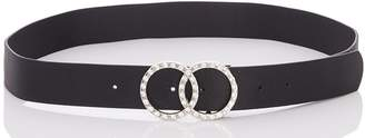 Quiz Black Diamante Circle Belt
