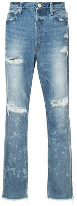 Red Card ripped slim-fit jeans