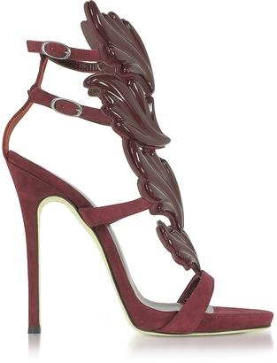 Giuseppe Zanotti Cruel Burgundy Suede High Heel Sandals