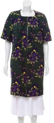 Marni Wool-Blend Floral Print Coat