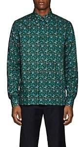 Prada Men's Floral Cotton Poplin Shirt