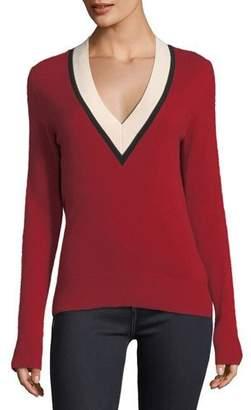 Veronica Beard Barrett V-Neck Cashmere Sweater