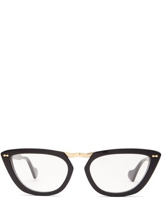 Gucci Cat Eye Acetate Glasses - Womens - Black
