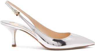 Prada Point-toe leather slingback pumps