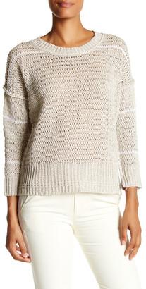 Brochu Walker Porter Linen Blend Pullover Sweater $378 thestylecure.com