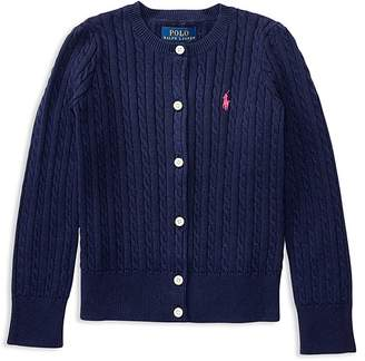 Polo Ralph Lauren Girls' Cable-Knit Cardigan - Little Kid