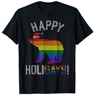 Mens Xmas Gay Bear Shirt Gay Dad Couple Ugly Christmas Shirt