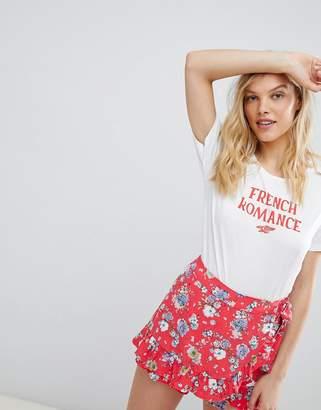 Maison Scotch French Romance Print T-Shirt